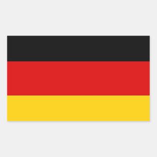 Flag of Germany Deutschland Rectangular Sticker