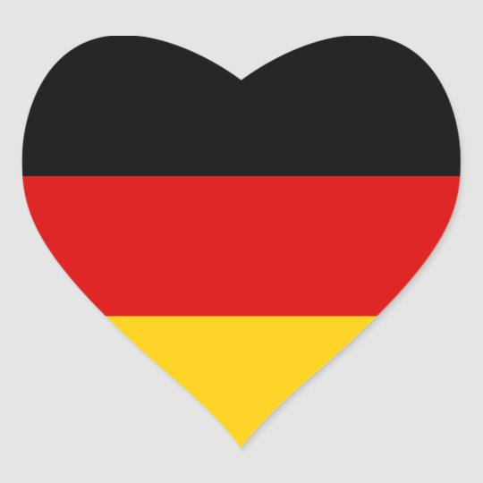 Flag of Germany Heart Sticker