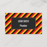 [ Thumbnail: Flag of Germany Inspired Colored Stripes Pattern B Card ]