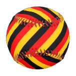 [ Thumbnail: Flag of Germany Inspired Colored Stripes Pattern Baseball ]