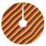 [ Thumbnail: Flag of Germany Inspired Colored Stripes Pattern Tree Skirt ]