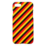 [ Thumbnail: Flag of Germany Inspired Colored Stripes Pattern Case ]