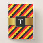 [ Thumbnail: Flag of Germany Inspired Colored Stripes Pattern Pocket Folder ]