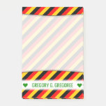 [ Thumbnail: Flag of Germany Inspired Colored Stripes Pattern Notes ]