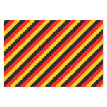 [ Thumbnail: Flag of Germany Inspired Colored Stripes Pattern Tissue Paper ]
