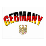 Flag of Germany logo German shirts and gifts Postcard