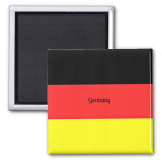 Flag of Germany 2 Inch Square Magnet