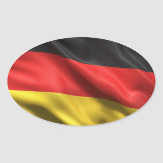 Flag of Germany Oval Sticker