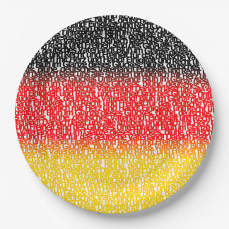 Flag of Germany Paper Plate
