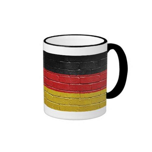 Flag of Germany Ringer Coffee Mug