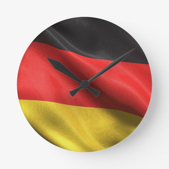 Flag of Germany Round Clock