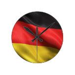Flag of Germany Round Clocks