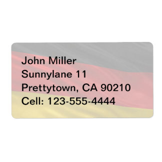 Flag of Germany Shipping Label