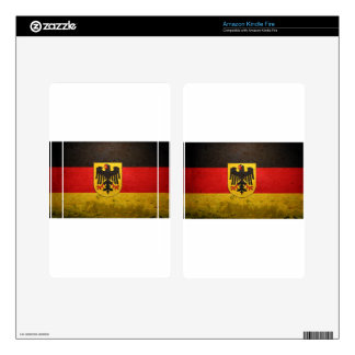 FLAG OF GERMANY. KINDLE FIRE DECAL