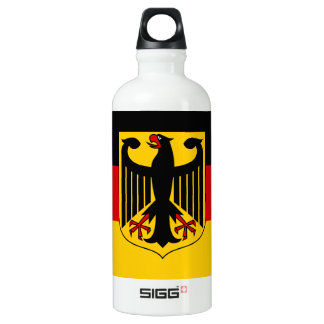Flag of Germany with Crest Aluminum Water Bottle