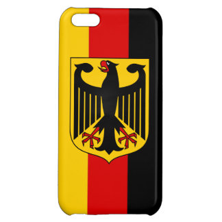 Flag of Germany With Crest Savvy iPhone 5 Glossy Cover For iPhone 5C