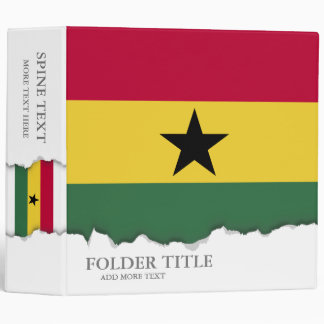 Flag of Ghana Binder