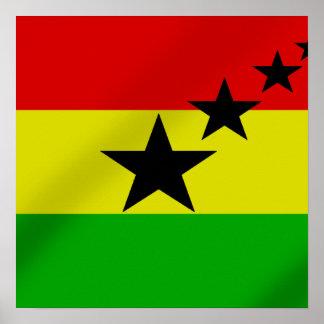 Flag of Ghana Black Stars Gift ideas Poster