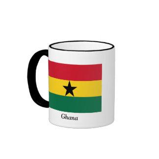 Flag of Ghana Ringer Coffee Mug