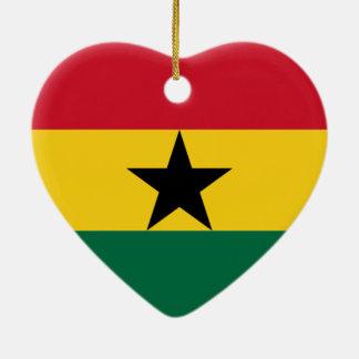 Flag of Ghana Christmas Ornaments