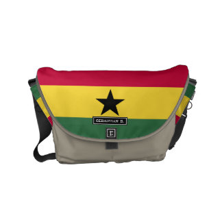 Flag of Ghana Small Messenger Bag