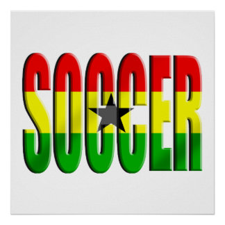 Flag of Ghana Soccer logo for Black Stars fans Poster
