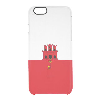 Flag of Gibraltar Clear iPhone Case