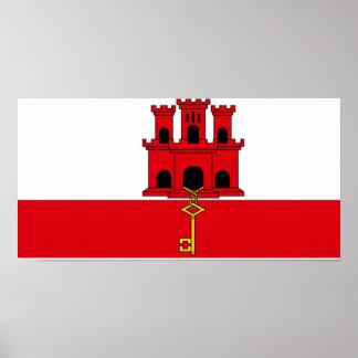 Flag of Gibraltar Poster