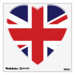 flag of great britain heart room decals