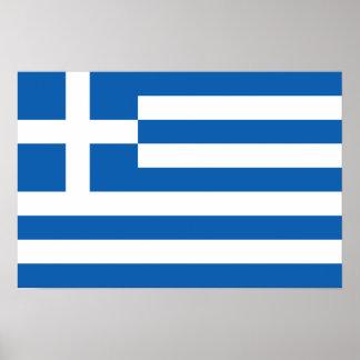 "Flag of Greece ""ΕΛΛΆΔΑ"" Posters"