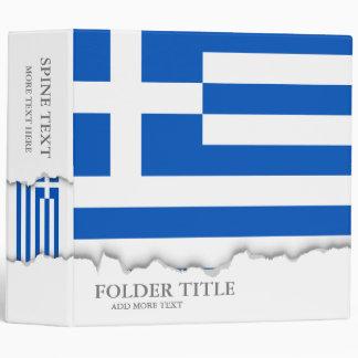Flag of Greece 3 Ring Binder