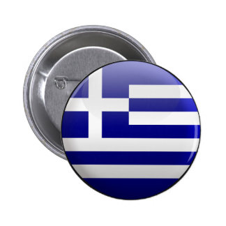 Flag of Greece Pinback Buttons