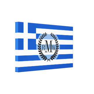 Flag of Greece Canvas Print