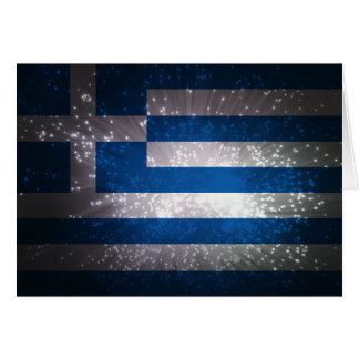 Flag of Greece Card