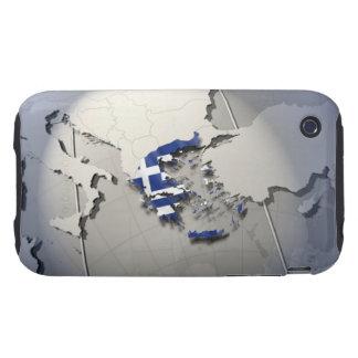 Flag of Greece iPhone 3 Tough Case