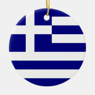 Flag of Greece Ceramic Ornament
