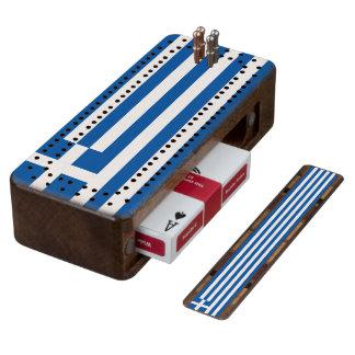 Flag of Greece Cribbage Board