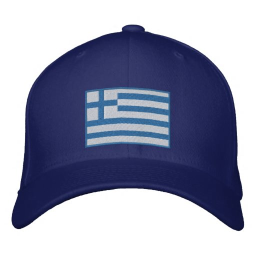 Flag of Greece Customizable Embroidered Baseball Cap