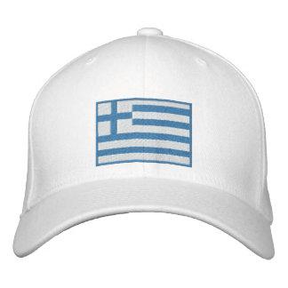Flag of Greece Customizable Embroidered Baseball Caps