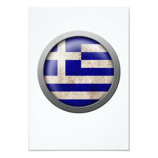 Flag of Greece Disc Personalized Announcement