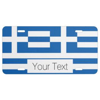 Flag of Greece, Greek License Plate