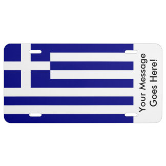 Flag of Greece License Plate