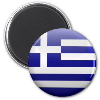 Flag of Greece 2 Inch Round Magnet