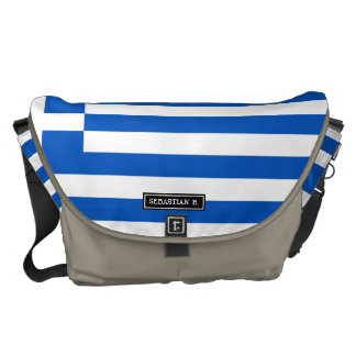 Flag of Greece Messenger Bag