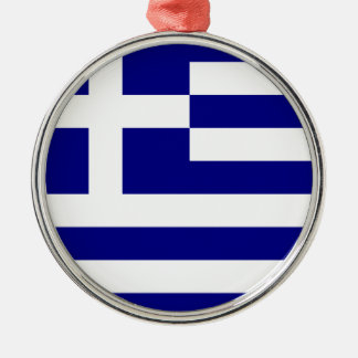 Flag of Greece Metal Ornament