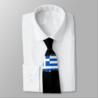 Flag of Greece Neck Tie
