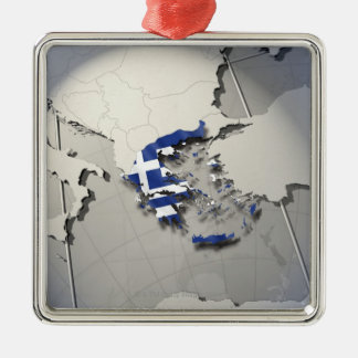 Flag of Greece Ornaments