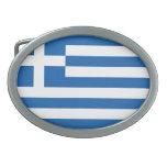 Flag of Greece Oval Belt Buckles