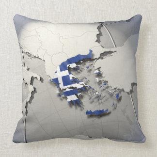 Flag of Greece Throw Pillows