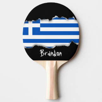 Flag of Greece Ping-Pong Paddle